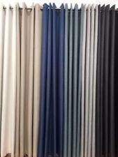 250 cm Drop Eyelet Curtain -PORTER Linen Look Blockout Eyelets -100 % Blackout
