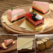 50/100pcs Gold Mousse Tray Cake Boards Pudding Cardboard Base Pad Baking Mould