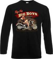 Us Chemise manches longues avec un motard-, Chopper - & Old schoolmotiv modèle Big Boy