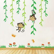 Cheeky Monkeys balanceo en vivero de Pared Arte Calcomanía Vines, Pegatinas De Pared-PD322