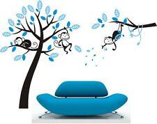 LARGE SIZE Monkey Tree #8 Wall Art Stickers Kids Nursery Vinyl Decals DIY