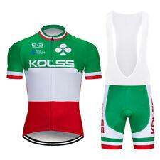 Green Men Cycling Jersey Cycle Shirt Bib Shorts Set Bike Shirt Padded Pants Kits