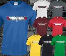 Wingman Mens T Shirt Maverick Goose Funny Joke Comedy Slogan Gift