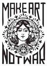 153810 Make Art Not War Art Deco Art Wall Print Poster CA