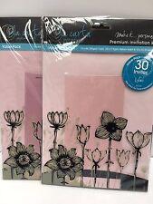 New Premium invitation making kit pinks paper envelopes and vellum inserts