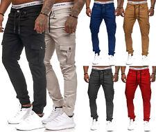 Herren Skinny Fit Cargo Designer Chino Jeans Hose Stretch Jeanshose