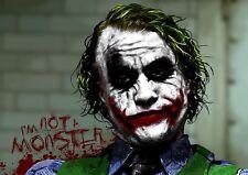 The Joker Dark Knight Batman Art Print Photo Picture Poster A3 A4