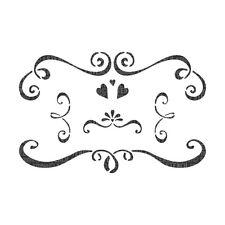 Swirl elementi decorativi per mobili Stencil artigianato muri arredamento Stampinatura