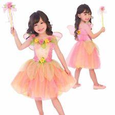 Girls Spring Peach Garden Fairy Fancy Dress Book Fairytale Party Costume Kids