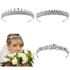 Luxus Strass Diadem Tiara Hochzeit Braut NEU!
