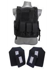 Tactical Scorpion 4 Pc Level III+ / AR500 Body Armor Bearcat Molle Vest - Black