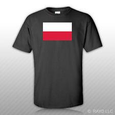 Polish Flag T-Shirt Tee Shirt Free Sticker Poland