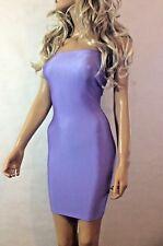 LILAC Purple Boob Tube DRESS Stretch Lycra Strapless Bodycon Party Club Sexy Z37