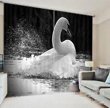 3D Schwanensee 352 Blockade Foto Vorhang Druckvorhang Vorhänge Stoff Fenster DE