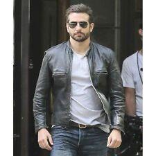 Bradley Cooper Biker Style Slim Fit Vintage 100% Real Goat Leather Jacket