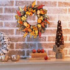 Christmas Halloween Ornament ,Fake Maple Leaf Garland Wreath Party Home Decor
