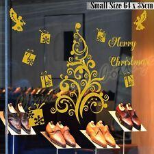 MERRY Christmas Tree regalo Angel Vetrina Muro ARTE Adesivo Decorazione