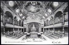 SWITZERLAND~Suisse ~ 1906 GENEVE (Genf)  VICTORIA HALL ~  OPERA