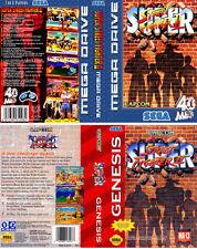 Super Street Fighter Sega Mega Drive PAL NTSC caja de sustitución Arte caso inserto