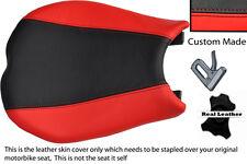 Rojo Y Negro Personalizado se adapta a Ducati 848 1098 1198 Cuero Funda De Asiento Delantero