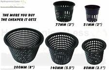 Mesh Pot Hydroponics & Aeroponics Aquarium Heavy Duty Net Pot 51 77 80 140 200mm