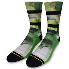 Merge4 x Dave Nelson Liquid Cream Men's Socks Green Skateboarding Sports Active