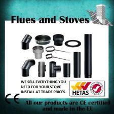 """5"""" 6"""" Black Stove Pipe Vitreous Enamelled Stove Pipe Kit Matt Flue 5 inch 6 inch"""