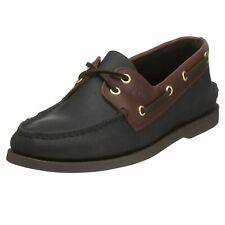 Sperry Top-Sider 0191486 : Men's Original 2 Eye Black/Amaretto Boat Shoe