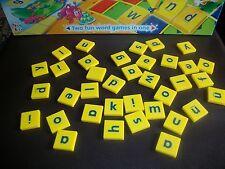 Junior Scrabble Spare Tiles Yellow Tile Blue Letters - Choose from list