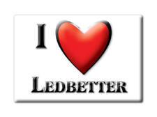 SOUVENIR USA - KENTUCKY FRIDGE MAGNET I LOVE LEDBETTER (LIVINGSTON COUNTY)