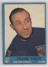 1962-63 Topps #61 Frank Paice New York Rangers RC Rookie Hockey Card