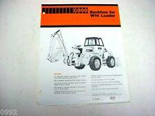 Case W14 Wheel Loader Backhoe Attachment Sales Sheet  !