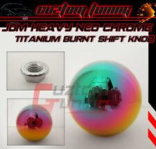 FITS 03-08 NISSAN 350Z Z33 Z34 NEO CHROME TITANIUM HEAVY ROUND SHIFT BALL KNOB
