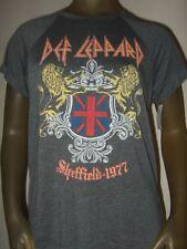 New Juniors S-L Def Leppard Sheffield England 1977 Lion Crest Rock Band T- Shirt