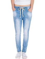 Damen Hose Jogg Jeans relaxed loose fit vintage Damenjeans stretch blau Neu
