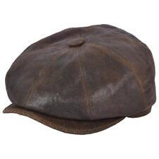 8 PEZZI in PELLE CAPPELLO DA Strillone Cappello. Marrone o nero. aspetto invecchiato. FODERATO