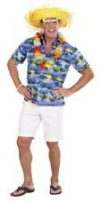 Camiseta Hawaiana,manga corta, azul-amarillo-negro,Palmeras,HOMBRE T.M +L