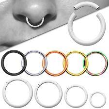 Piercing Segment Ring Edelstahl Universal Lippe Brust Ohr Septum Nasenring Helix