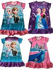 Elsa Anna Mädchen Kleider Kleidchen Kostüme Pyjama T-Shirt Sommer