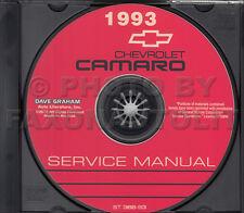 1993 Camaro Shop Manual on CD-ROM Chevrolet Repair Service Z28