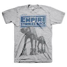 Official Mens Star Wars Empire Strikes Back AT-AT Grey T-Shirt - Grey Movie Film