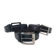Casaba Italian Style Genuine Leather Mens Waist Buckle Belts 1.5