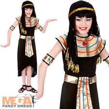 Cleopatra Reina Niñas Vestido Elaborado Disfraz Infantil De Fiesta Egipcio CHILDS TRAJE NUEVO