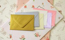"""12 BLANK NOTE CARDS 5x7/"""" /& ENVELOPES Folksy Floral GIFT WALLET FOLDER Note let"""