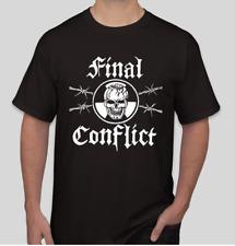 Final Conflict Skull T shirt Tee Rock Band Music Punk Medal CBGB
