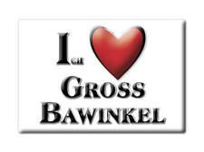 DEUTSCHLAND SOUVENIR - NIEDERSACHSEN MAGNET ICH LIEBE  GROß BAWINKEL (EMSLAND)