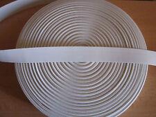 (0,99€/m)  5 m Gummiband 30,25,20 mm Breite Farbe weiß  Normale Spannkraft