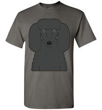 Poodle Dog (Black) Cartoon T-Shirt Tee - Men Women Ladies Youth Kids Tank Long