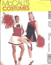 8383 UNCUT McCalls SEWING Pattern Girls Cheer Costumes Cheerleading Halloween FF