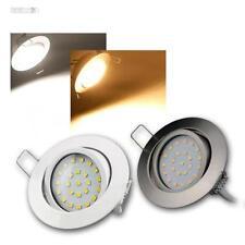 """LED SPOTS ENCASTRABLES """" flat-26 """" par exemple acier inoxydable brossé"""